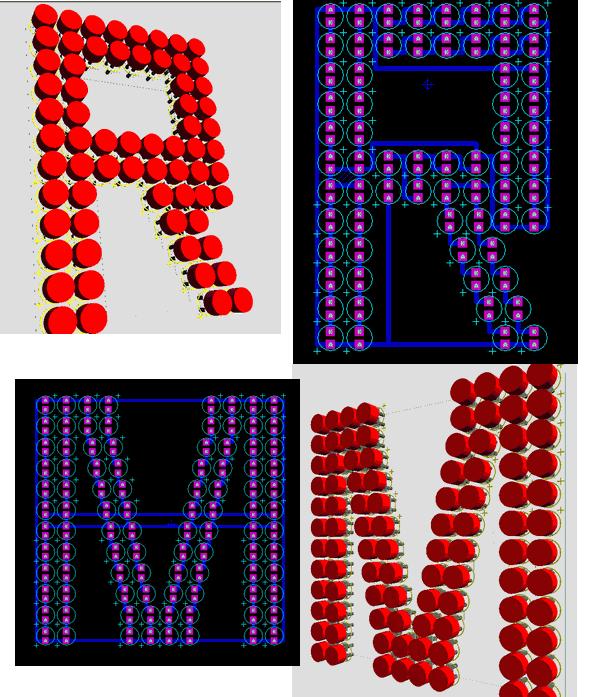 PCB حروف A تا Z با پروتیوس