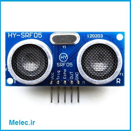 متر دیجیتال با ماژول HY-SRF05 و AVR