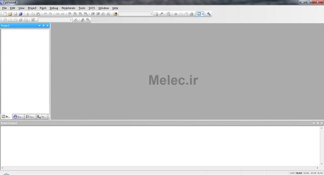 ایجاد پروژه در Keil محیط نرم افزار