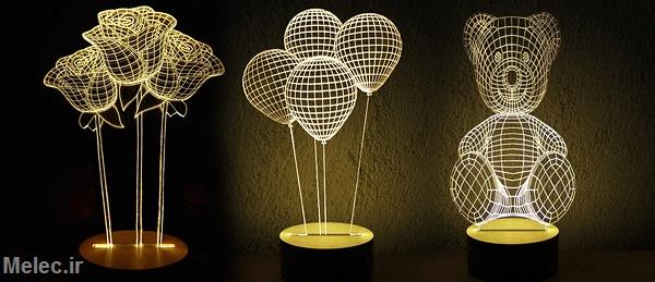 آموزش ساخت آباژور سه بعدی LED