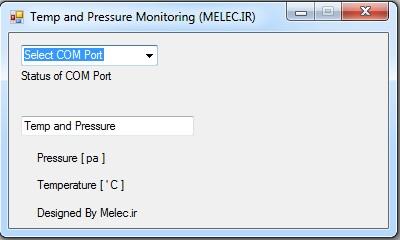 مدار دماسنج و فشار سنج با قابلیت اتصال USB به کامپیوتر