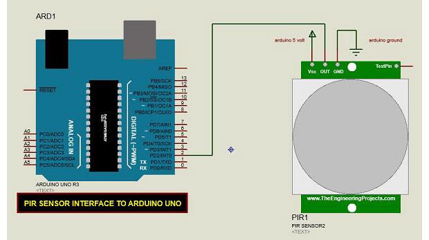 راه اندازی سنسور PIR با آردوینو