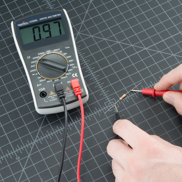 اندازهگیری مقاومت با مولتی متر