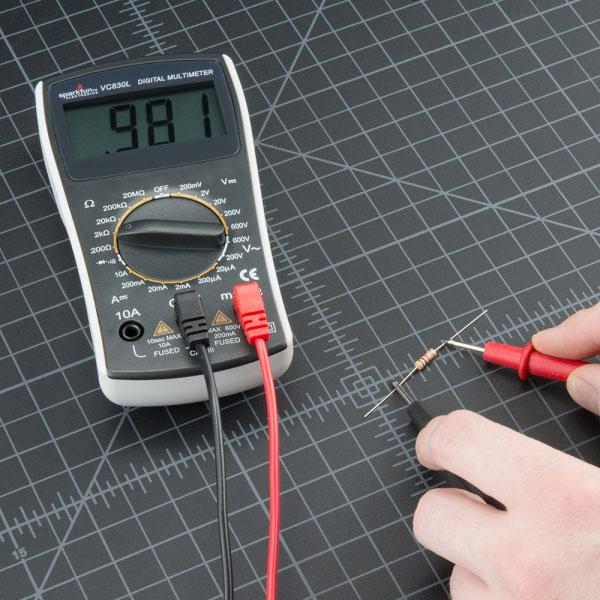 اندازهگیری مقاومت با مولتی متر و اهم متر
