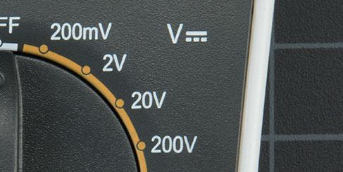 اندازهگیری ولتاژ محدوده ولتاژ مستقیم
