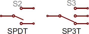 کلید SPDT و SP3T
