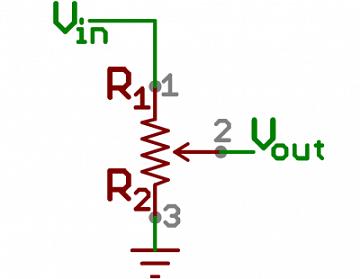 داخل پتانسیومتر مقاومت - تقسیم کننده های ولتاژ
