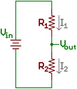 تقسیمکننده های ولتاژ - تقسیم ولتاژ با مقاومت