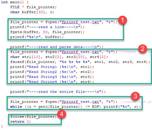 مدیریت فایل ها در زبان C