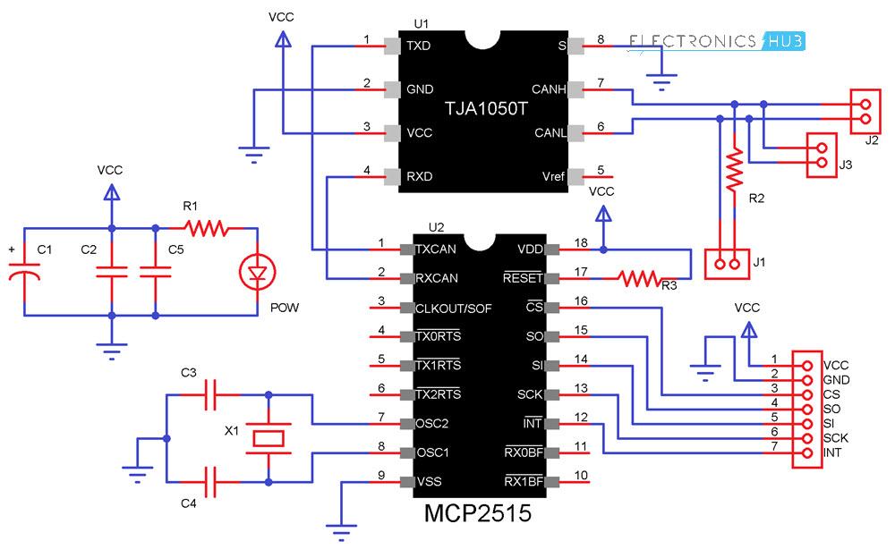 آموزش استفاده از پروتکل CAN Bus در آردوینو با استفاده از آیسی MCP2515